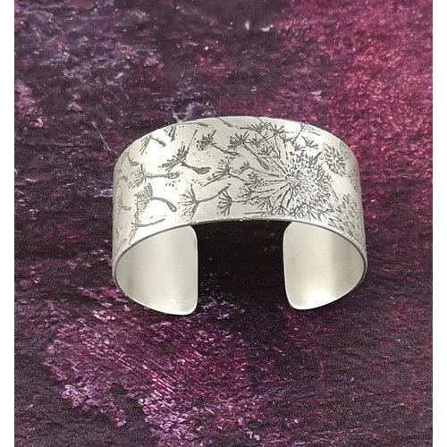 Anna Roebuck Brazalete brazalete Dandelion metal ligero 28