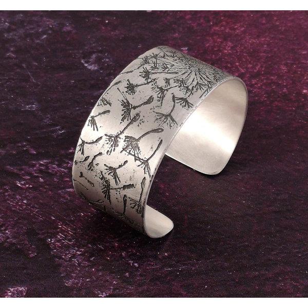 Bangle cuff Dandelion light metal 28