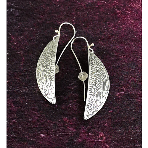 Anna Roebuck Ammonite metal light hemisphere long hook earrings 50