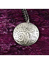 Ammonite metal light dome  pendant 43