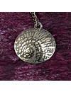 Ammonite metal dark dome  pendant 44