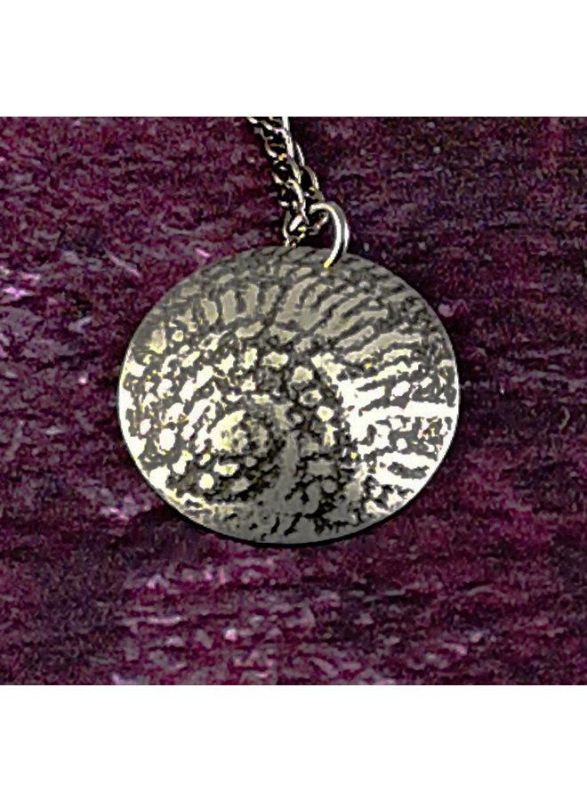 Ammonit Metall dunkle Kuppel Anhänger 44