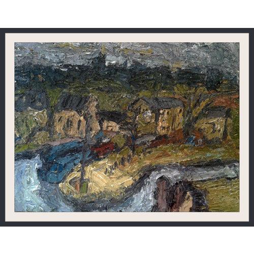 Barry De More Das Canal Basin Brighouse Öl 009