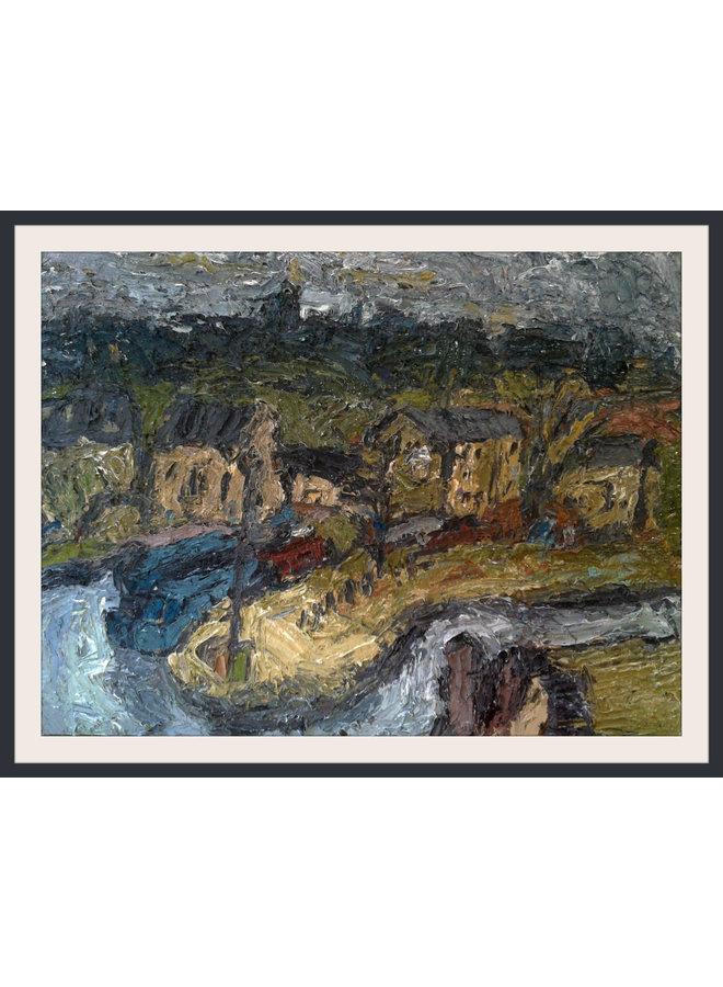 Das Canal Basin Brighouse Öl 009
