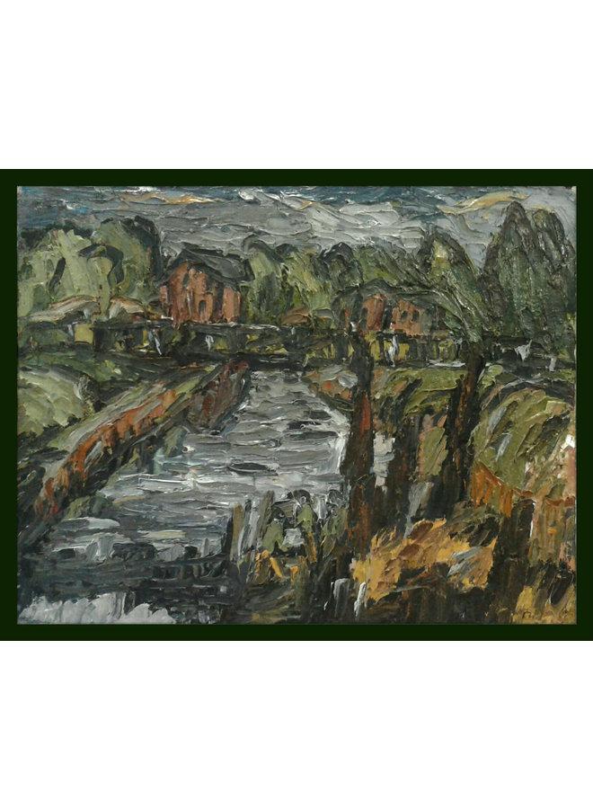Elland Canal Bridge mit Hüttenöl 014