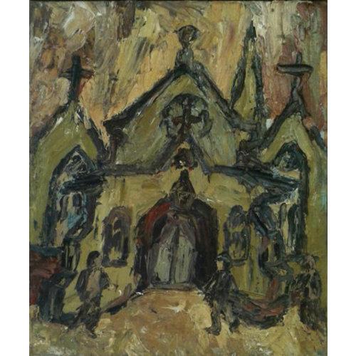 Barry De More Unitarische Kirche Todmorden Öl 019