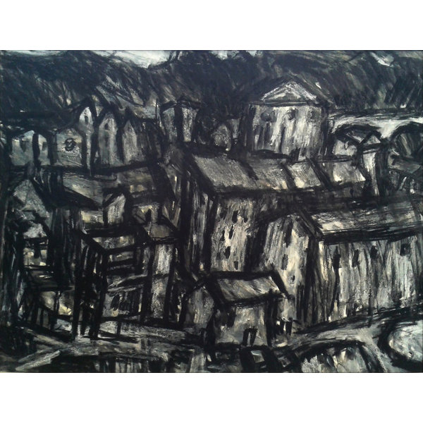 Town Hall,  Todmorden charcoal  022