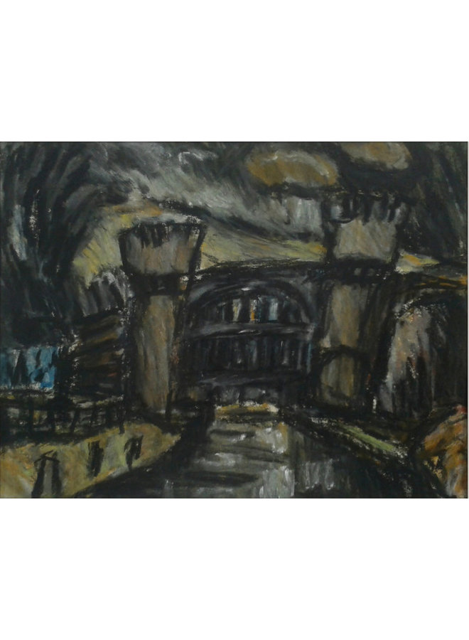 Schiefe Brücke Nr. 3, Todmorden Pastell 021