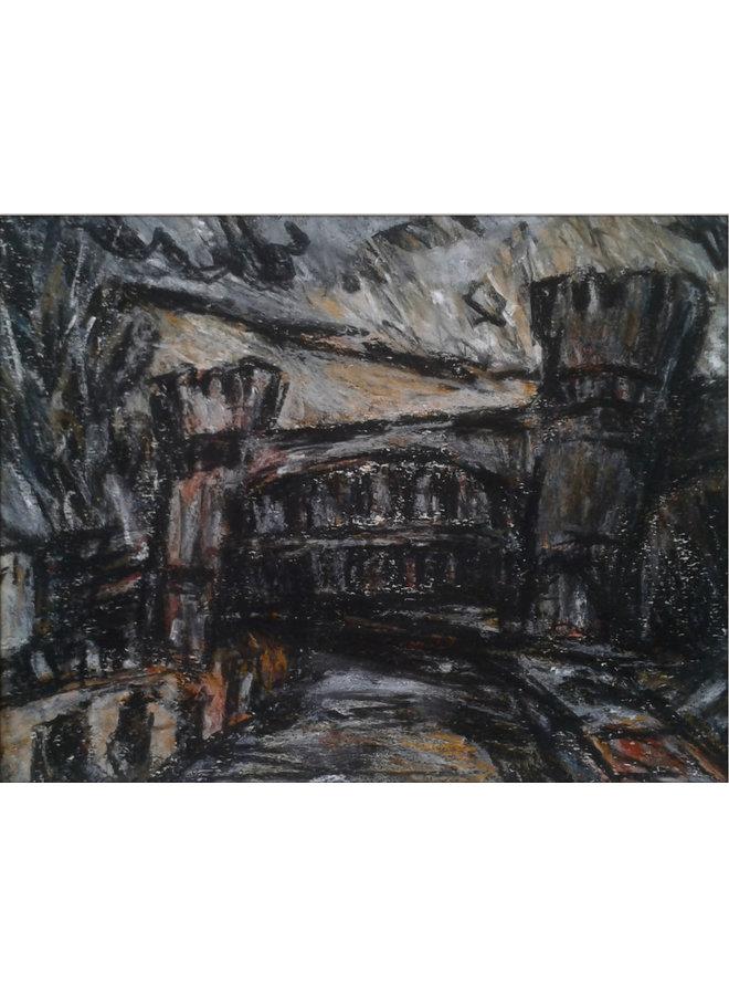 Schrägbrücke Nr. 1, Todmorden Pastell 020