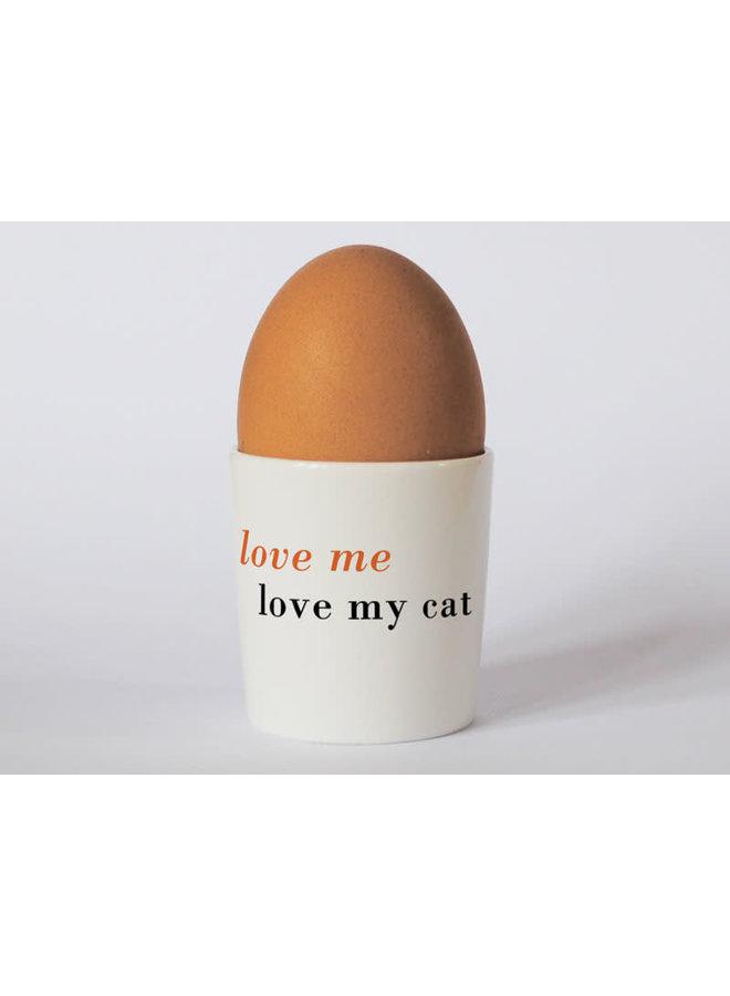 Orange Eierbecher der Glück-langen Katze 71