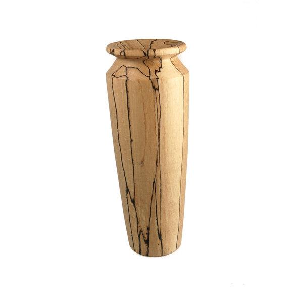 Von Hand gedrehte hohe Vase aus Spaltbuche 28