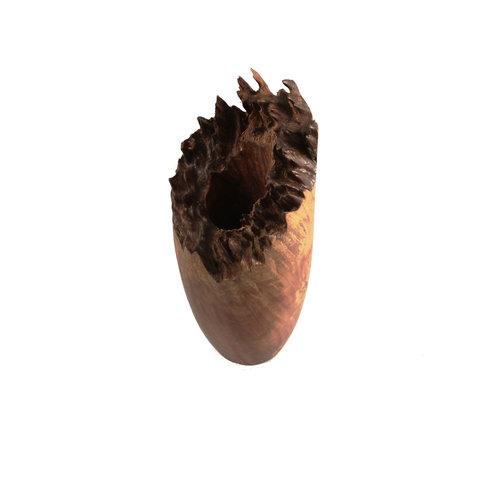 Kim W Davis Rote Mallee Holz Hand gedreht Grat Vase 31