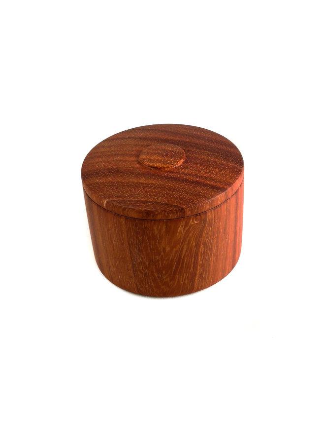 Padauk Wood Handgedrehte Deckeldose 25