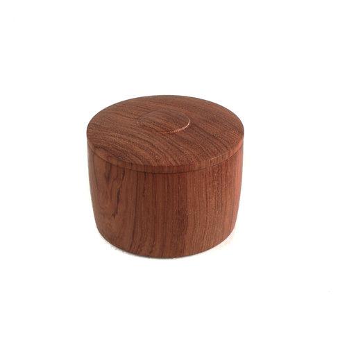 Kim W Davis Caja de tapas torneadas a mano de madera Bubinga 24