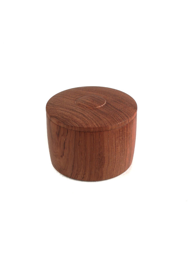 Bubinga Holz Hand gedreht Deckel Box 24
