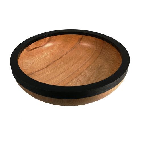 Kim W Davis Tazón de fuente grande 36 de madera de haya torneado a mano