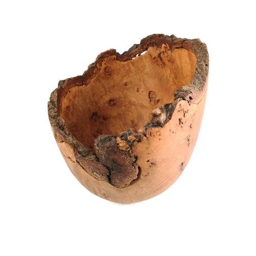 Kim W Davis Tazón de madera torneado a mano Beech Burr 34