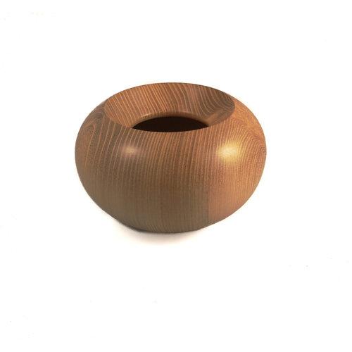 Kim W Davis Tazón de madera cerrado hecho a mano de madera de acacia 29