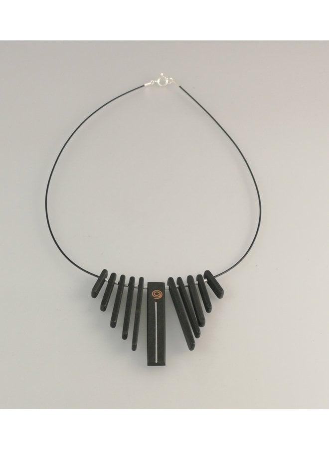 Fringe Slate Stäbe mit Kupfer und Silber Silberkette 22