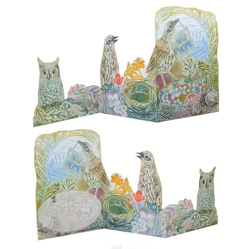 Judy Lumley New Home  3D Trifold card
