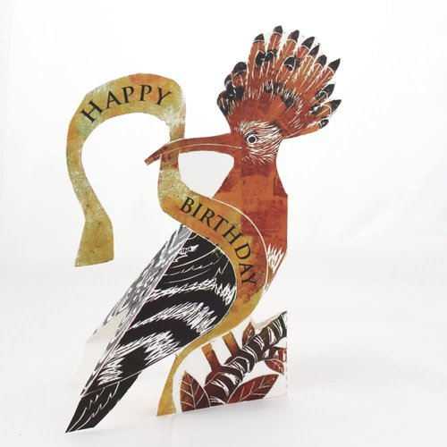 Judy Lumley Hoopoe Happy Birthday 3D card