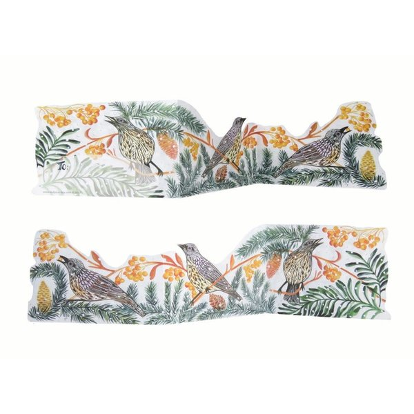 Autumn Fieldfare 3D Trifold card