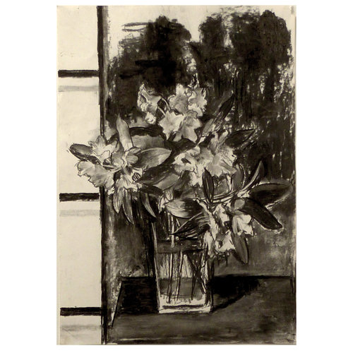 Mike Holcroft Rhodedendron charcoal on paper 70