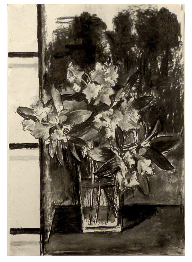 Rhodedendron charcoal on paper 70