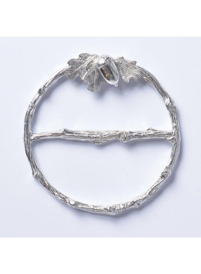Eichenblatt Schal Ring