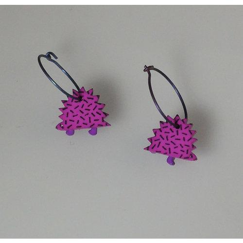 Lene Lundberg Purple hedgehog hoops
