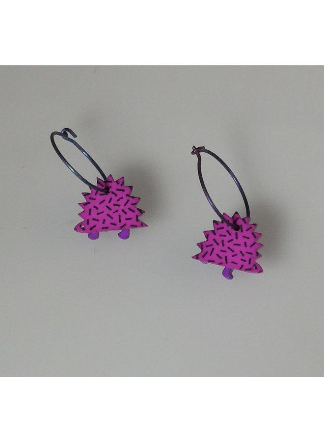 Purple hedgehog hoops
