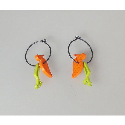 Lene Lundberg Orange duck hoops