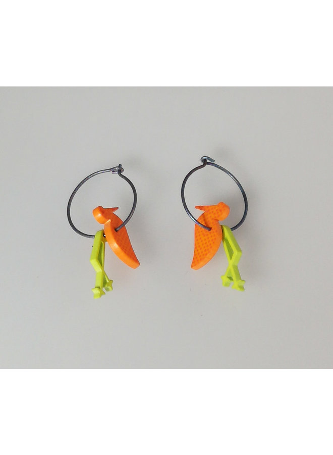 Orange duck hoops