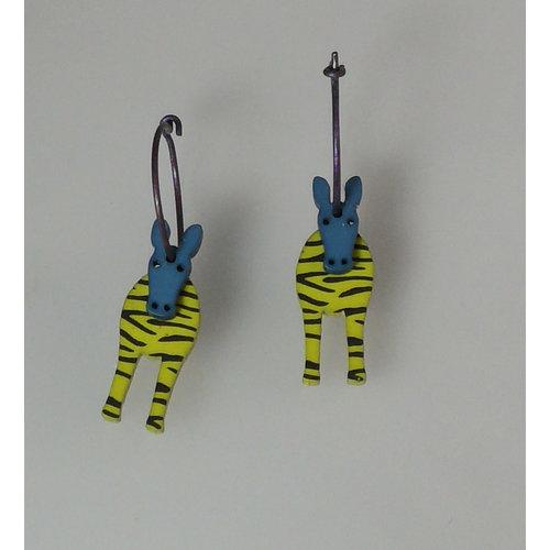 Lene Lundberg Green zebra hoops