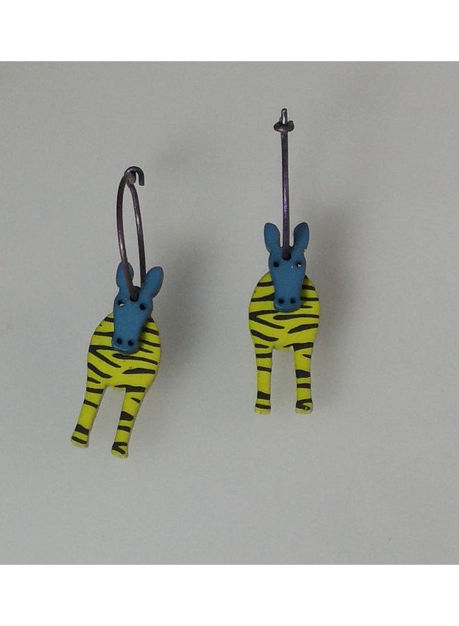 Green zebra hoops