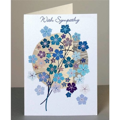 Forever Cards With Sympathy blue flowers Laser cut card