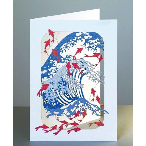 Forever Cards Wave and Fish Laser cut card
