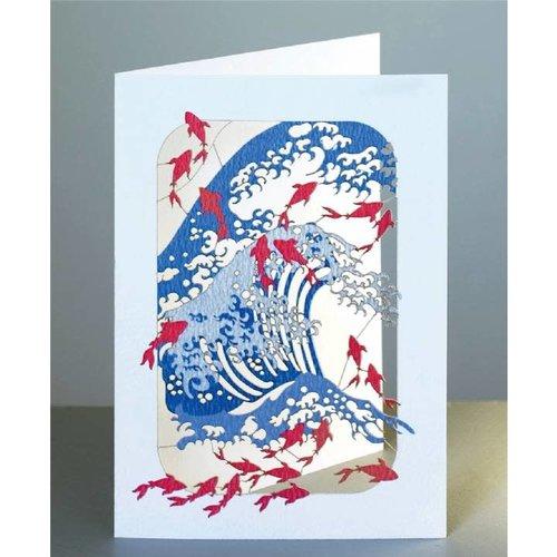 Forever Cards Wellen- und Fisch-Laser-Schnittkarte