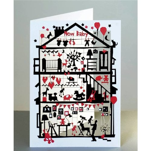 Forever Cards New Baby Laser cut card