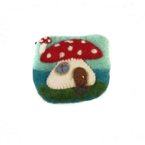 Pretty Craft Toadstool small Purse Felt 14