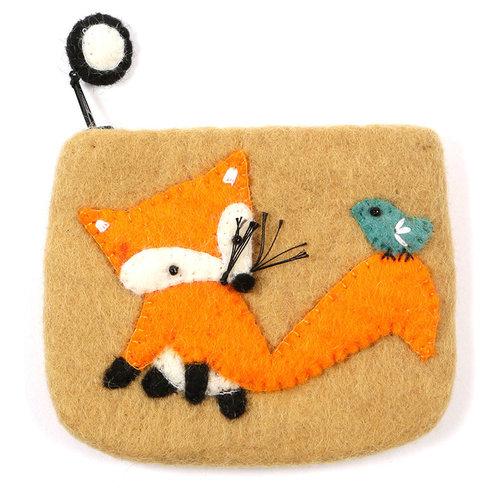 Pretty Craft Sand Fox Purse Felt 04