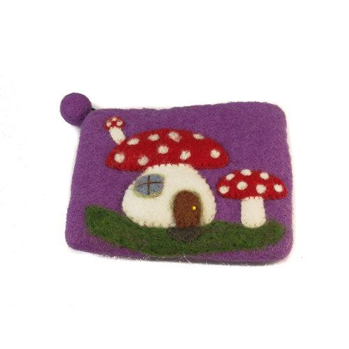 Pretty Craft Purple Toadstool Purse Felt 08