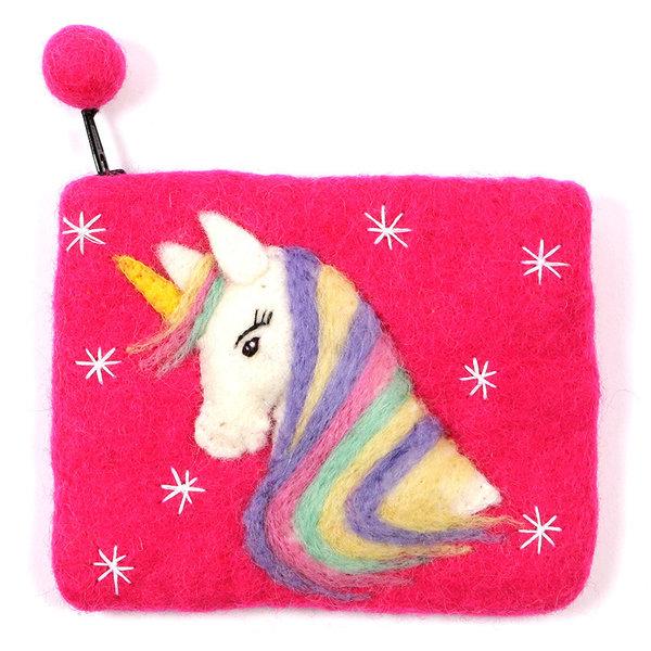 Pink Unicorn Purse Felt 06