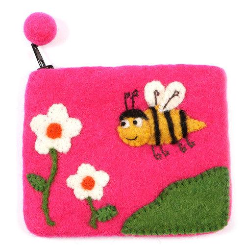 Pretty Craft Pink Bee Purse Felt 02