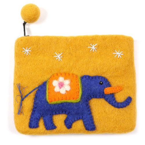 Pretty Craft Orange Elephant Purse Felt 05