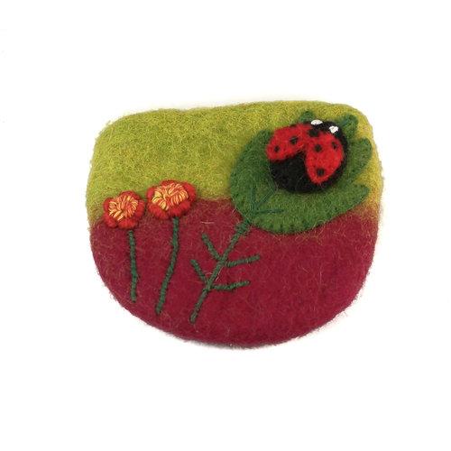Pretty Craft Ladybird small Purse Felt 12