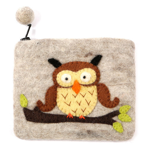 Pretty Craft Grey Owl Purse Felt 09
