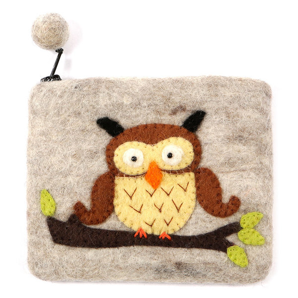 Grey Owl Purse Felt 09