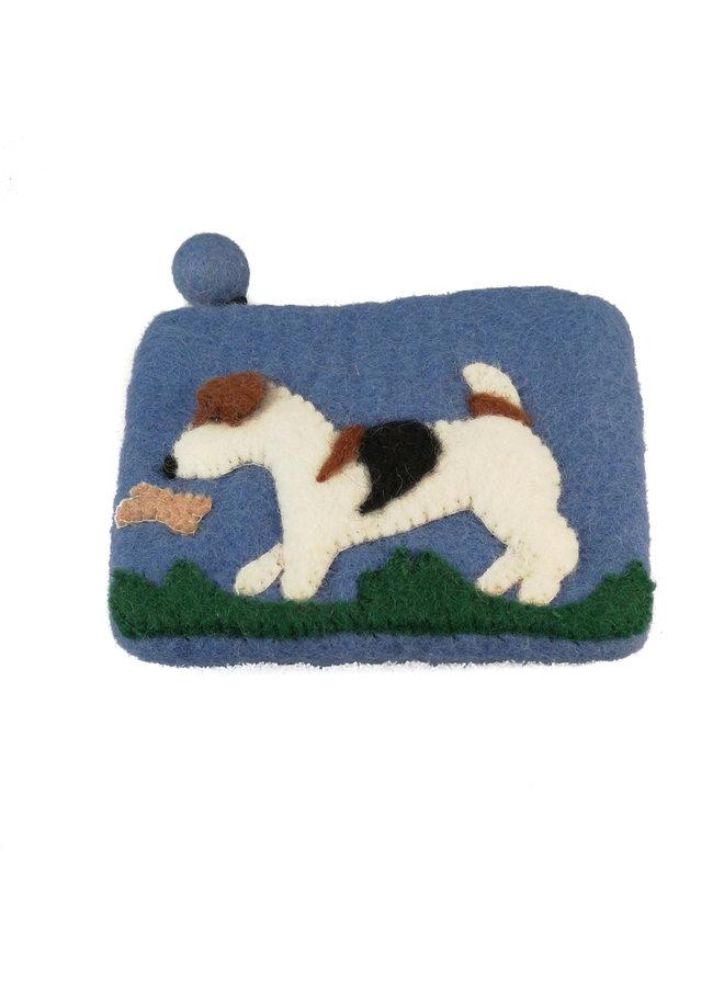 Blue Dog und Butterfly Geldbörse Filz 11