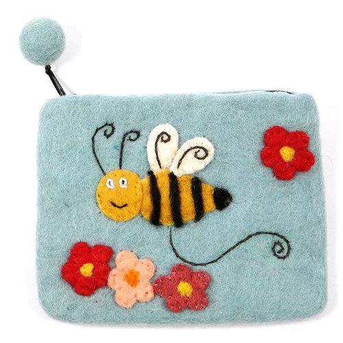 Pretty Craft Blue Bee Purse Felt 01